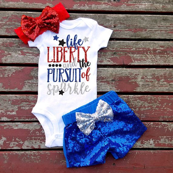 Life Liberty and The Pursuit of Sparkle 4th by GLITTERandGLAMshop