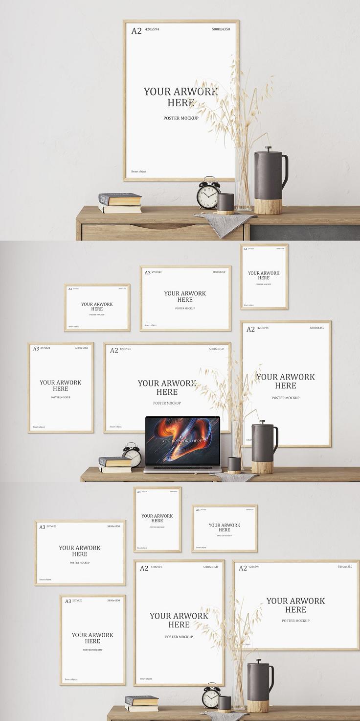 Frame Poster Mockup A Series In 2020 Poster Mockup Poster Frame Graphic Design Templates