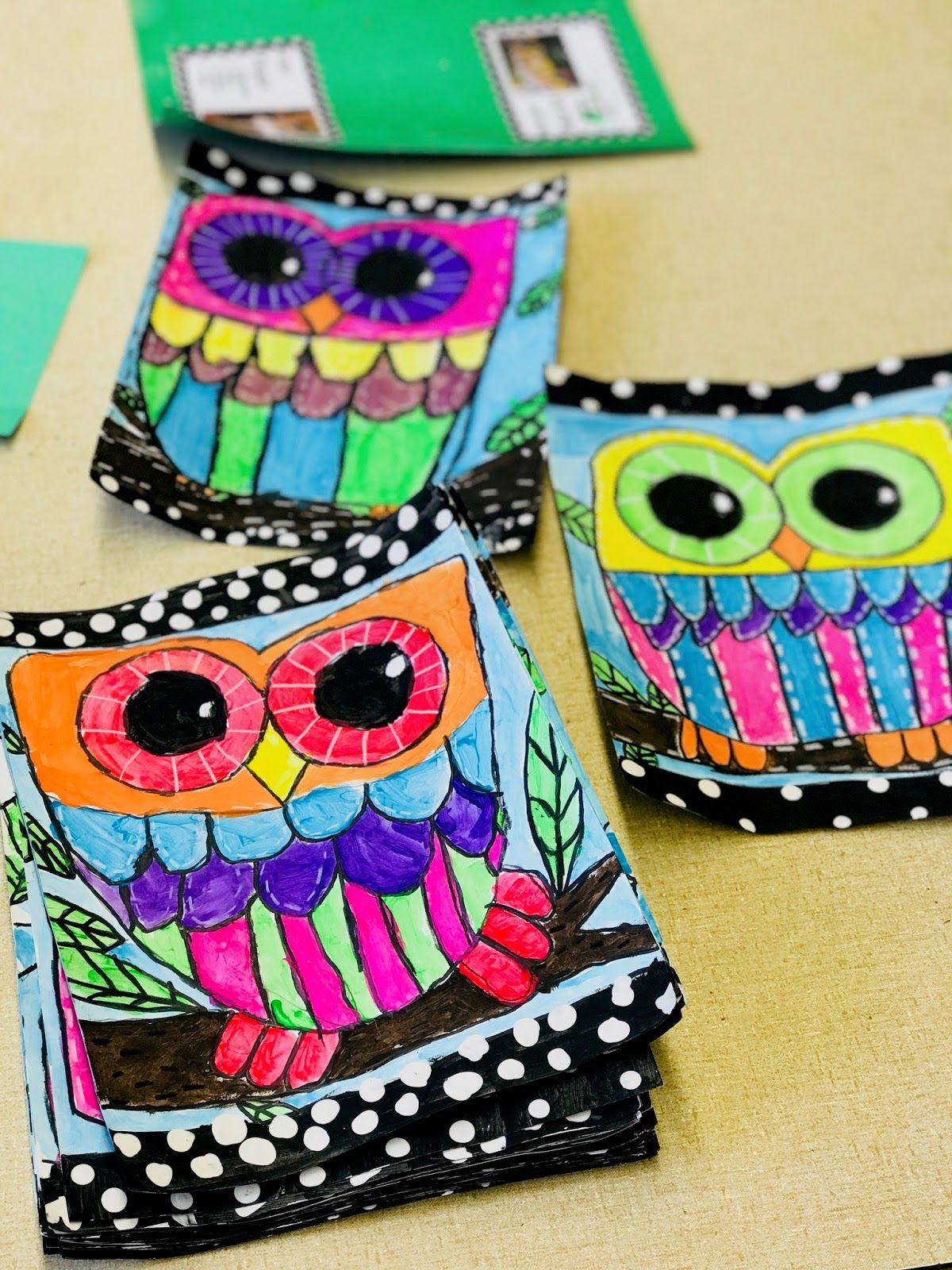 3rd grade owls 2017 3rd grade art lesson
