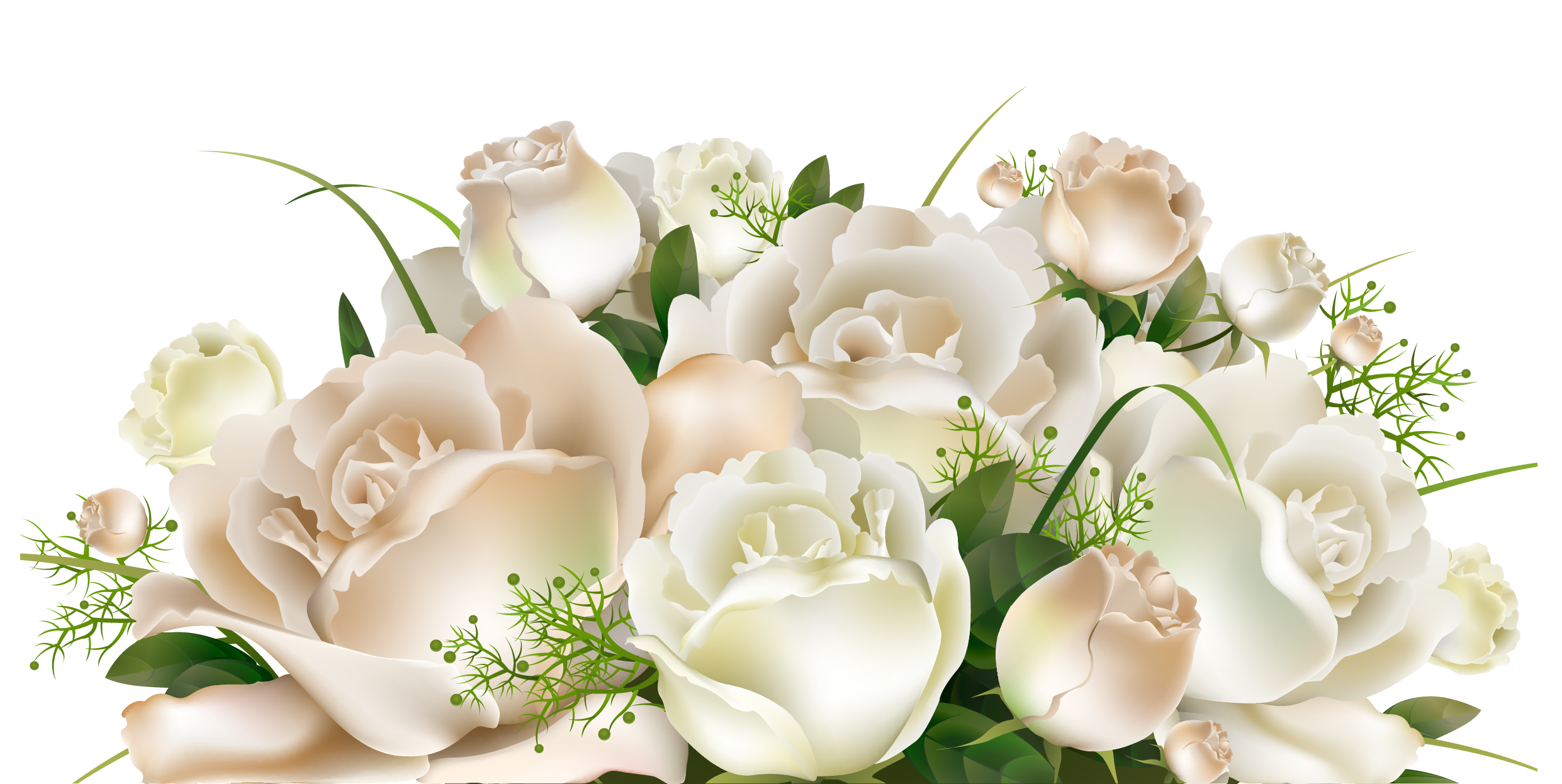 White Roses Decoration PNG Clipart Picture Flower clipart