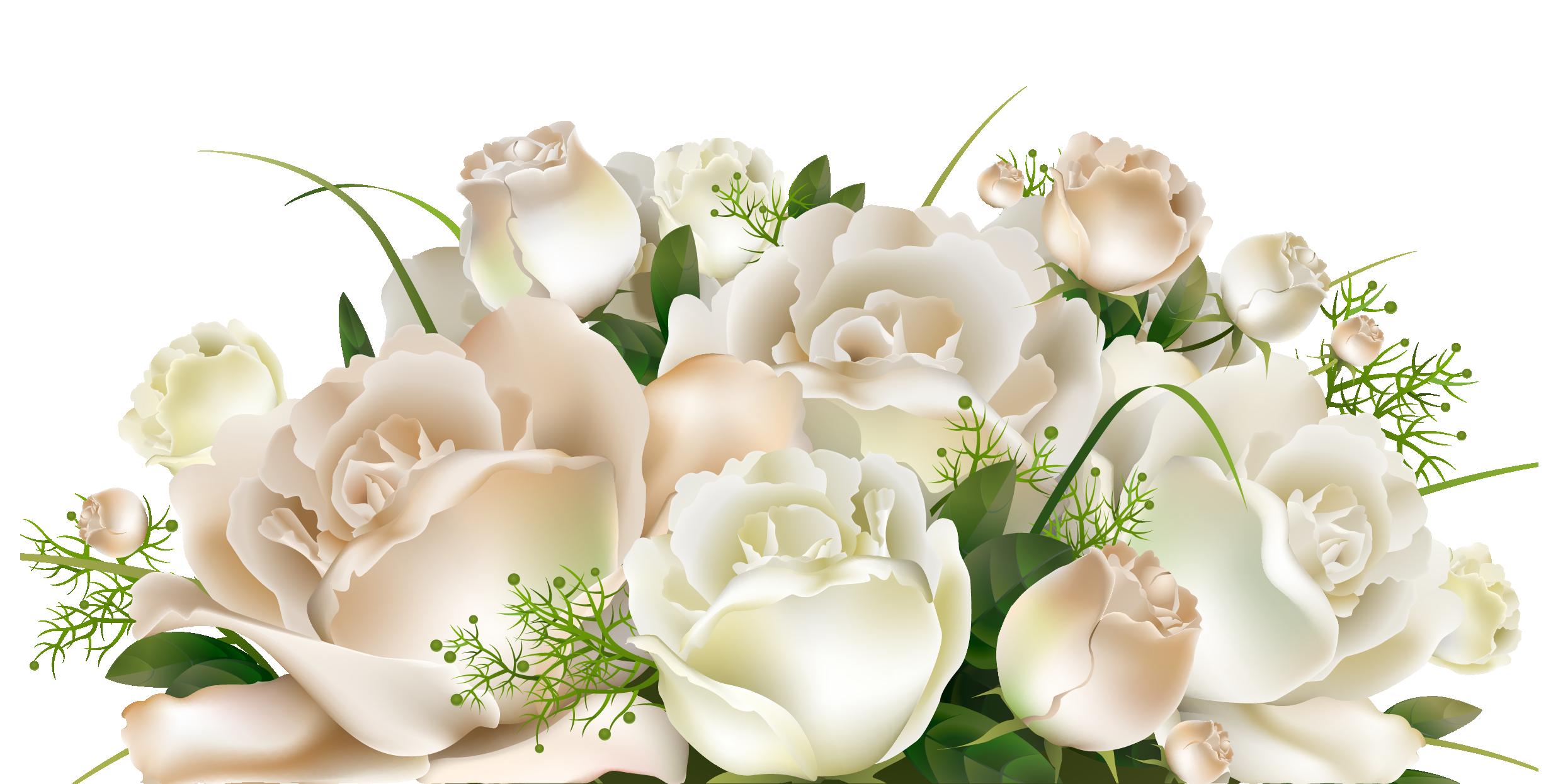White roses decoration png clipart picture artistically for Deco pour vase transparent