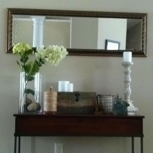 Spring Foyer Table With Wide Mirror