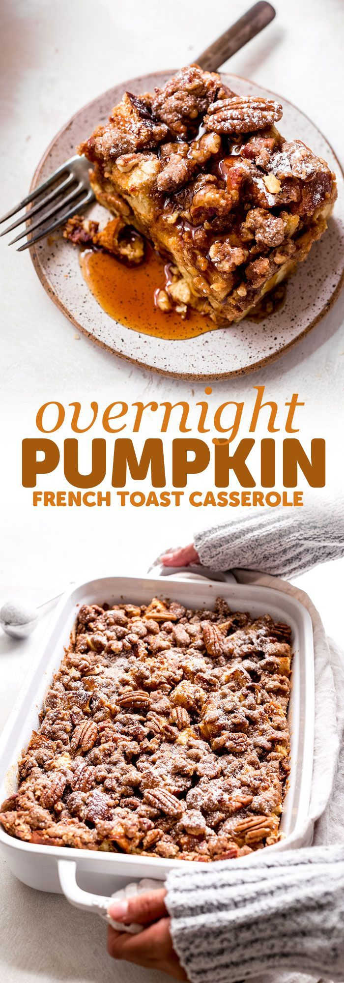 French Toast Casserole Pumpkin French Toast Casserole - This recipe is super friendly to make ahead of time and perfect for entertaining brunch guests of for Saturday morning breakfast! | Pumpkin French Toast Casserole - This recipe is super friendly to make ahead of time and perfect for entertaining bru...