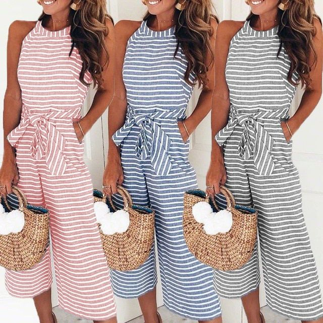 1c5b4d14de5f Elegant Sexy Striped Jumpsuit. Casual yet professional. Tam settle look  with a loud message. Comfy and stylish 30