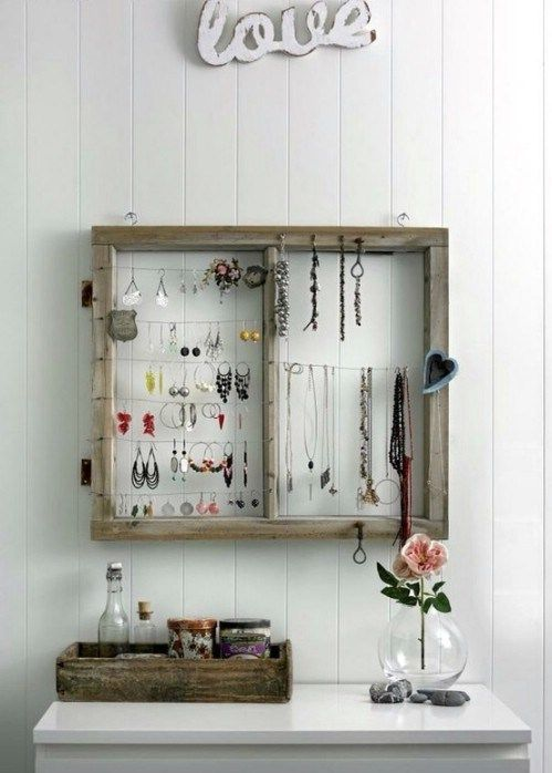 40 Creative DIY Rustic Storage Ideas To Organize Your Home | Jewelry ...