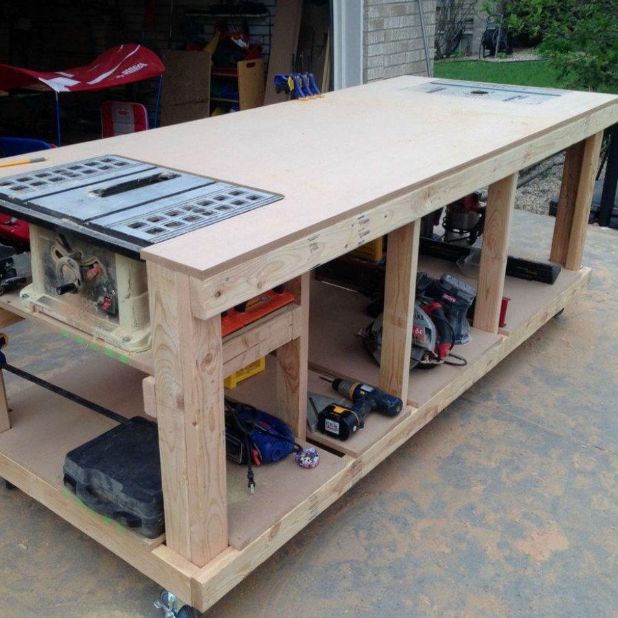 The 10 Best Garage Workbench Builds: 10 Woodworking Bench Plans Designs No. 704 Easy