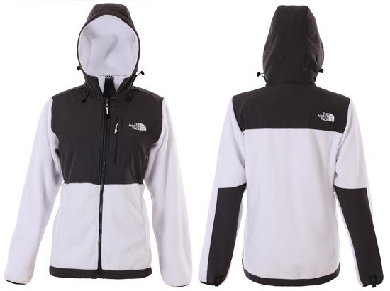 Black and white womens north face jacket
