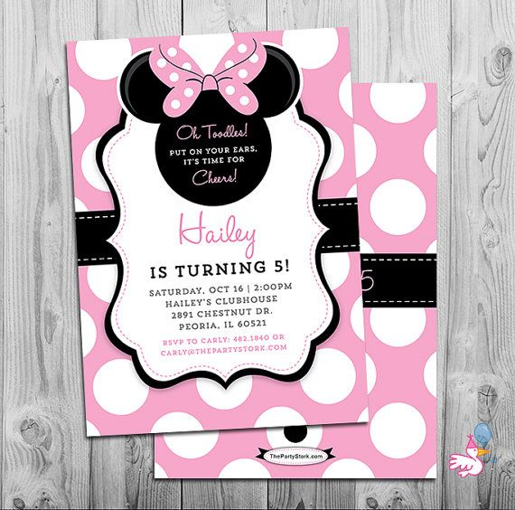 minnie mouse invites minnie mouse party third birthday girl