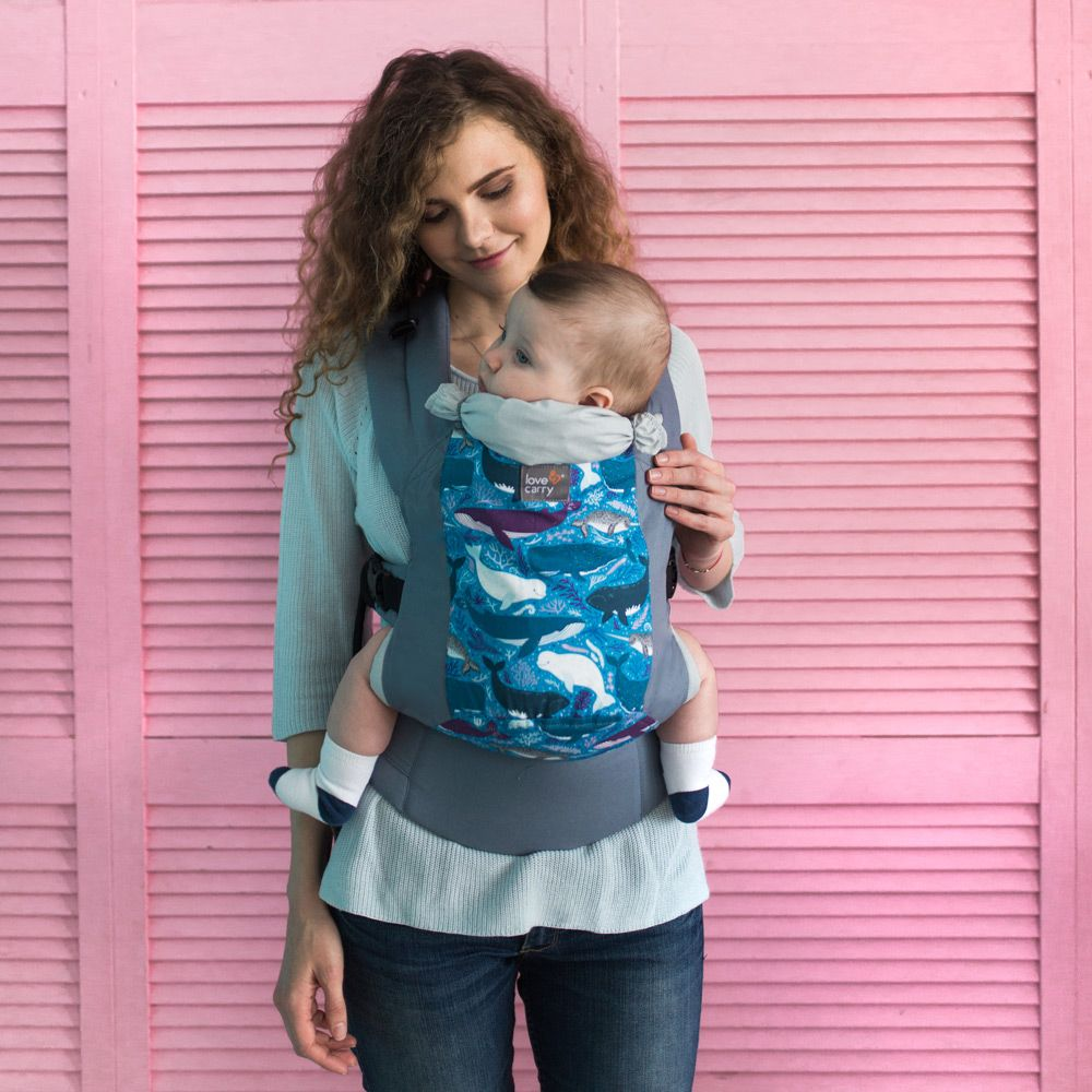 e4edc87c2 Love   Carry DLIGHT Baby Carrier - Whales