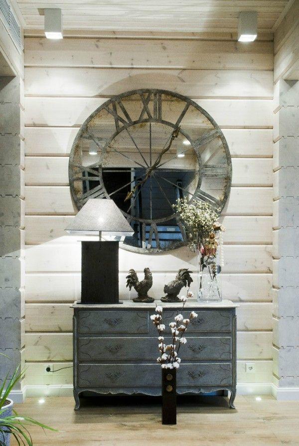 A Christmas Dream Home | Mirror wall clock, Rustic wall ...