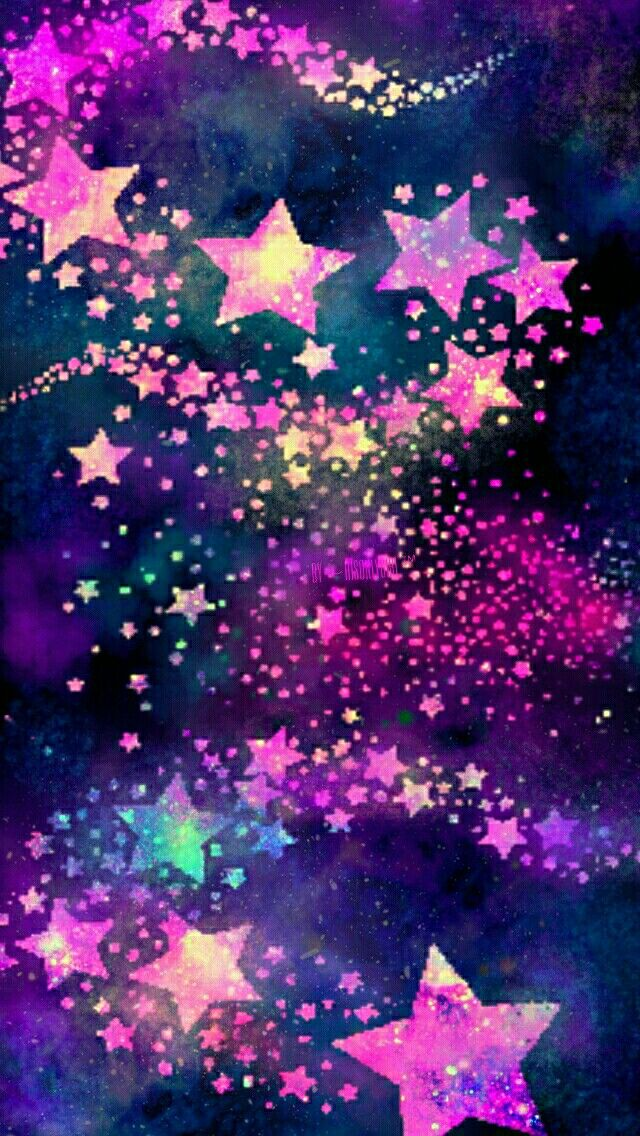 Rainbow stars iphoneandroid wallpaper i created for the app cocoppa black and pink and purple stars thecheapjerseys Gallery