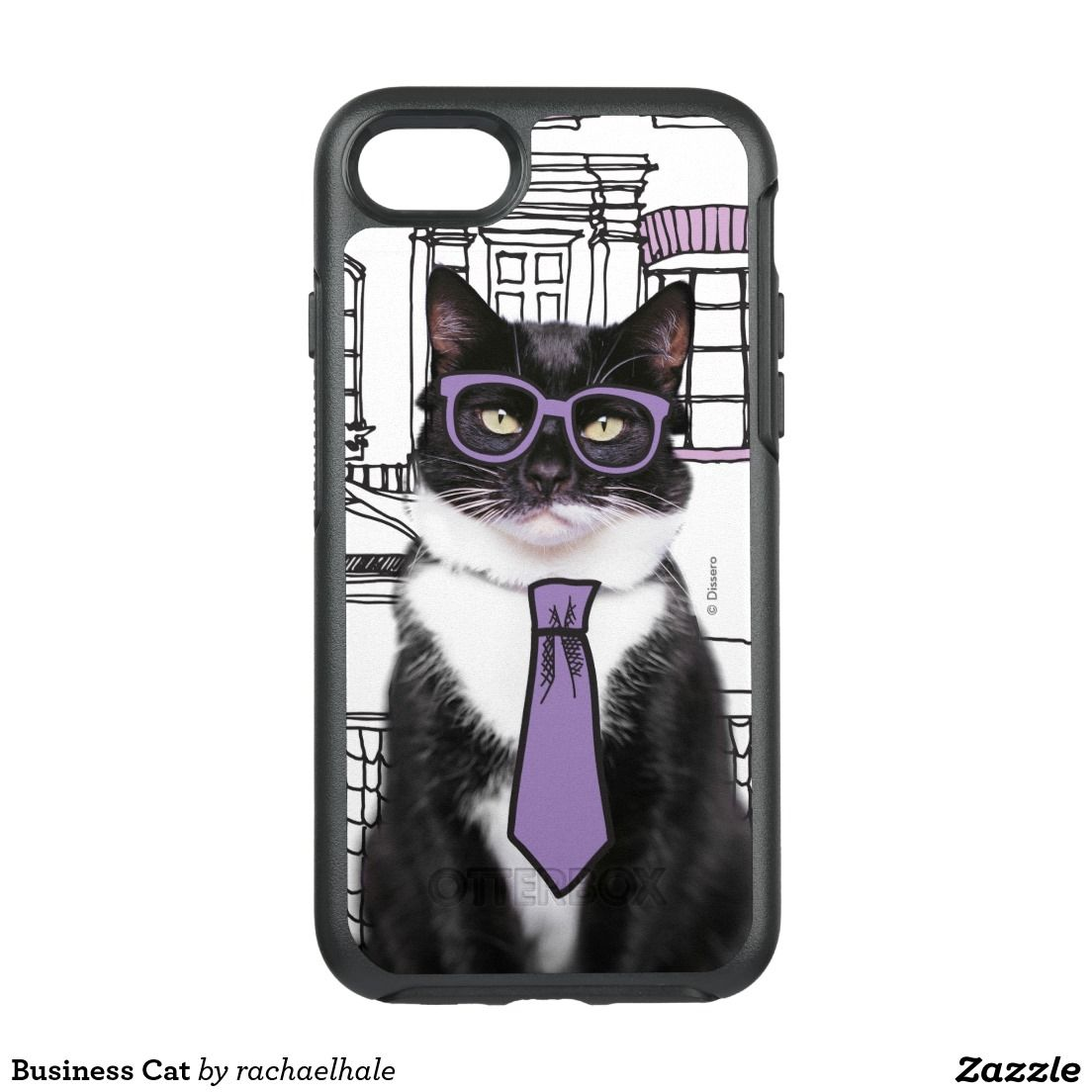 new product 06079 d8879 Business Cat OtterBox Symmetry iPhone 7 Case | Cool smart phone ...