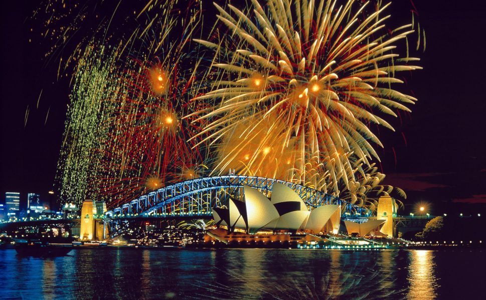 Fireworks at the Sydney Opera House HD Wallpaper New