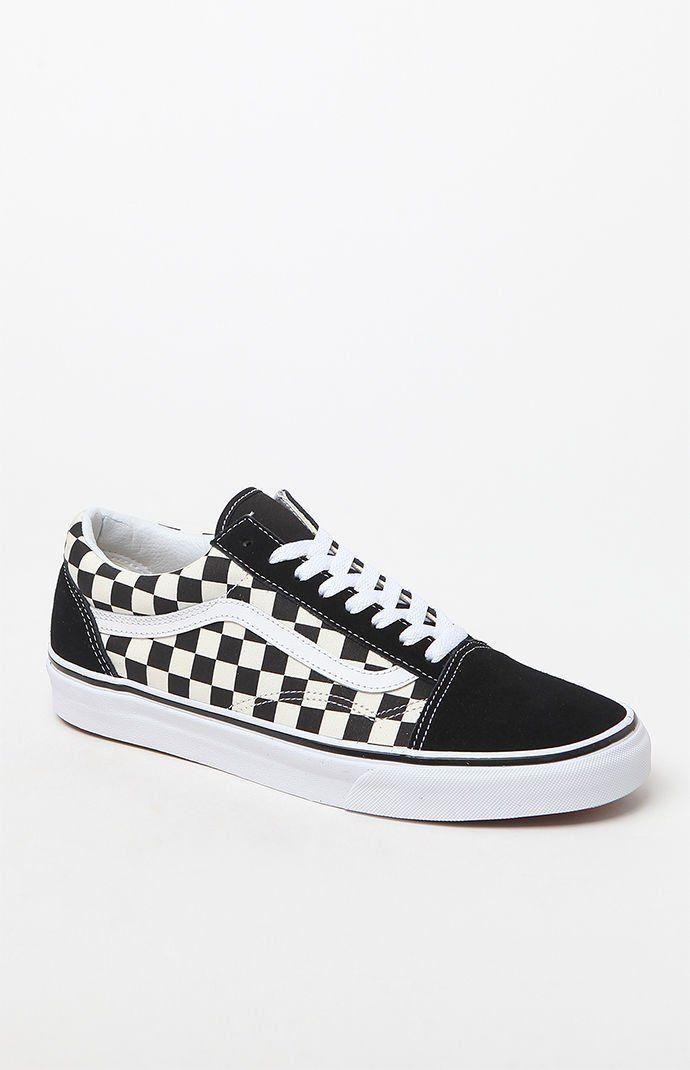 Primary Check Old Skool Black White Shoes Latzhose Damen Nike Schuhe Und Latzhose Kleid