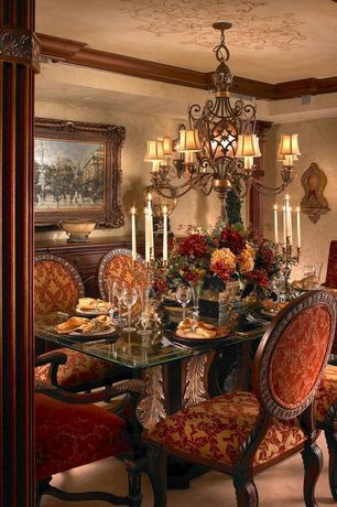 Traditional Dining Room With Crown Molding Mn2075 Corinthian Capital Rectangle Tuscan Dining Rooms Interior Design Dining Room Dining Room Chairs Upholstered