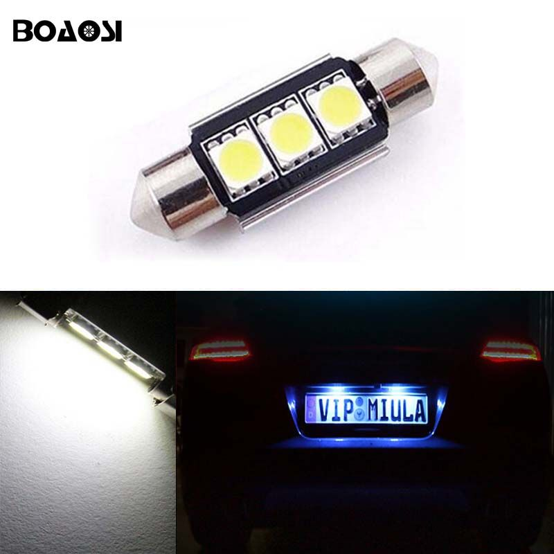 1x Volvo XC90 Bright Xenon White 3SMD LED Canbus Number Plate Upgrade Light Bulb
