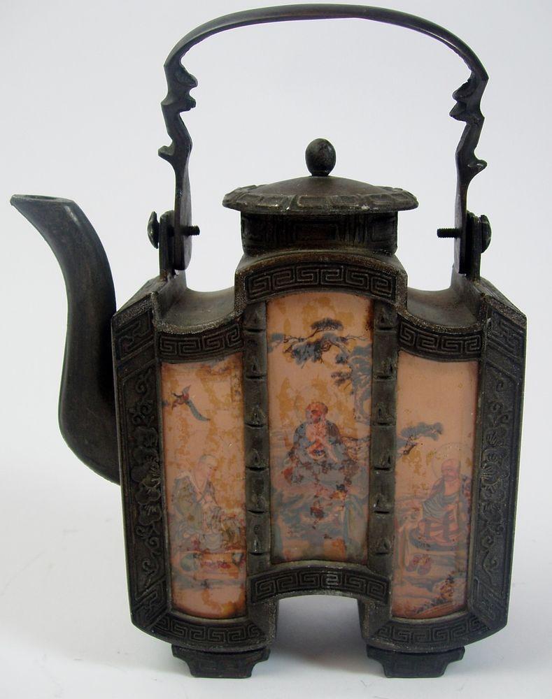 Teapot Decorative Tooled Metal Rare Chinese Antique ...