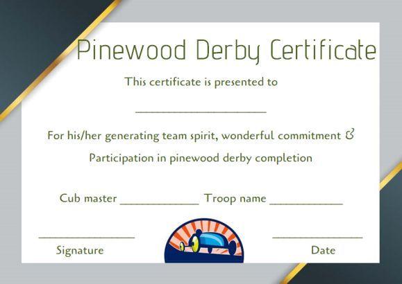 pinewood derby certificate word template Pinewood Derby - best of certificate of completion template word