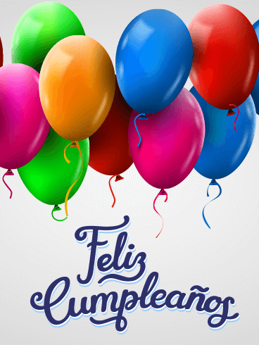 Colorful Happy Birthday Balloon Card In Spanish Feliz Cumpleaños Birthday Greeting Cards By Davia Happy Birthday Wishes Spanish Happy Birthday Wishes Cards Happy Birthday In Spanish