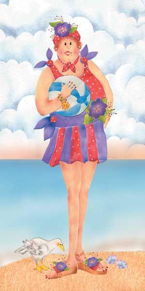 """Faith Beach"" art panel by Jodi Houghton Designs Inc"