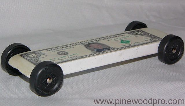 Pinewood Derby Car Design Ideas 3995dozen for 12 complete car kits Pinewood Derby Eight Dollar Bill Car