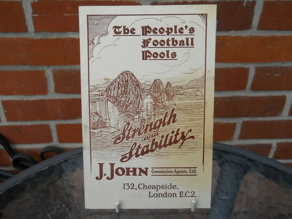 The Peopleu0027s Football Pools, Unwritten Coupon - 14th December 1935