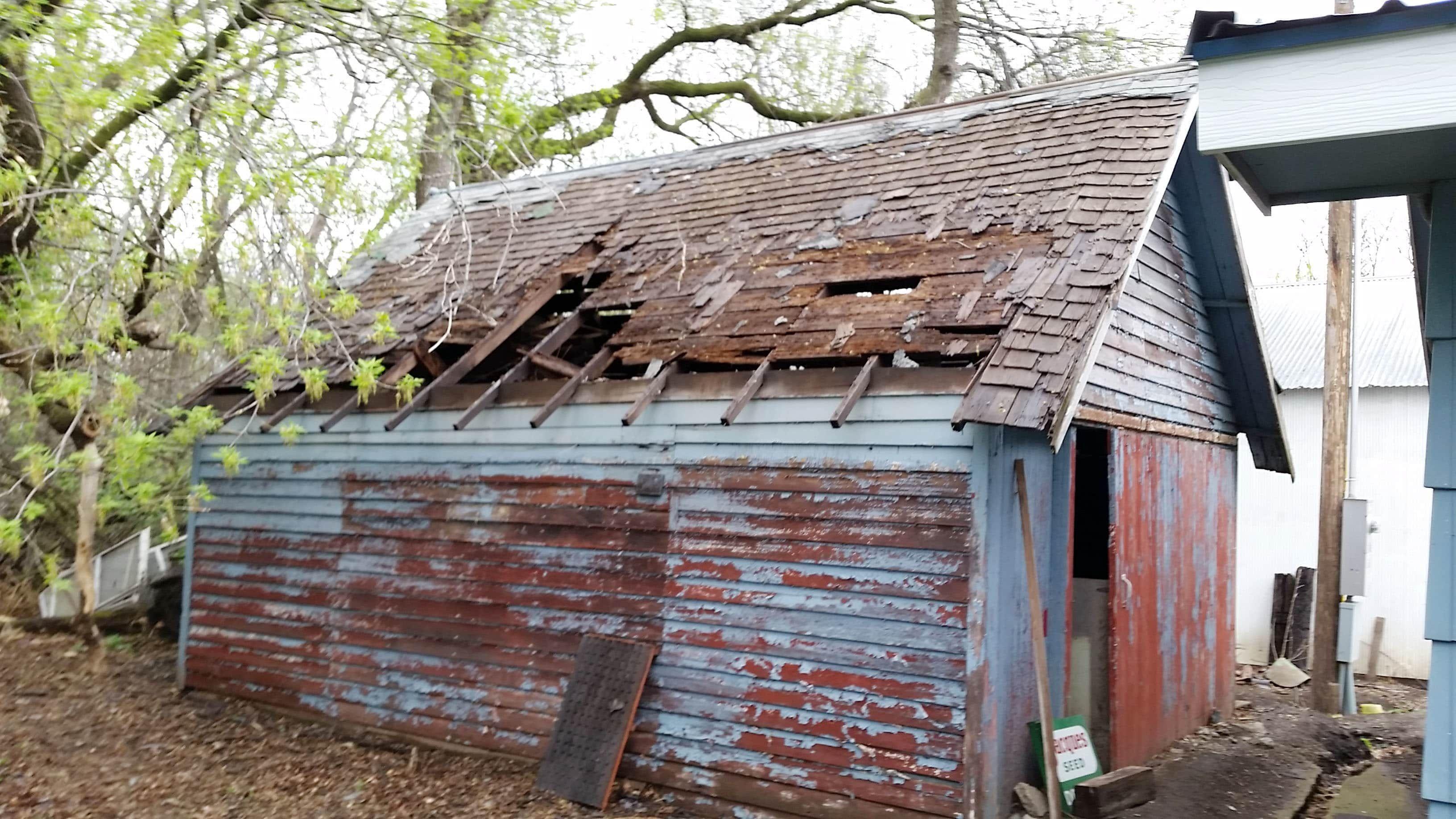 Diy Tips On Repairing A Battered Old Garage Roof Repair Diy Old Garage Diy Roofing