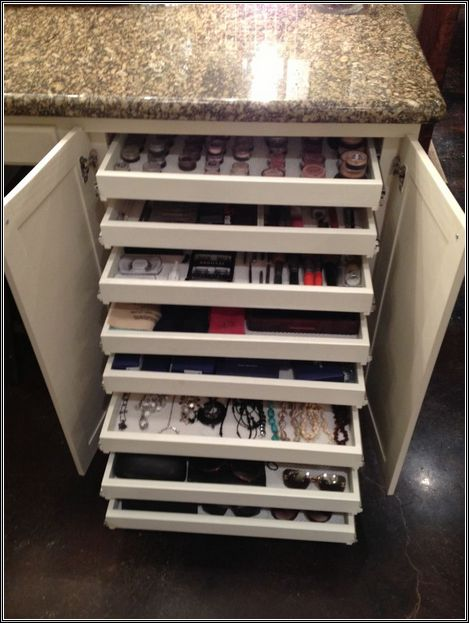 Jewelry Storage Organizer And Makeup Vanity Table Everything in