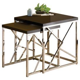 2 Piece Samuels Nesting Table Set In Brown Joss Amp Main