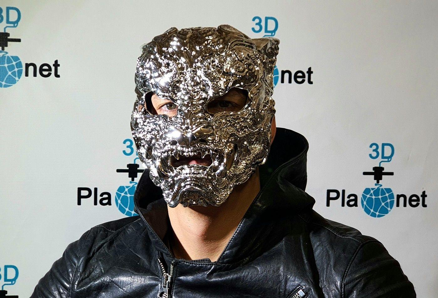 Tiger mask with a unique design chrome mask tiger chrome ...