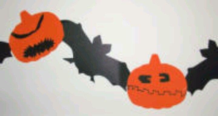 Bat & Pumpkin streamer
