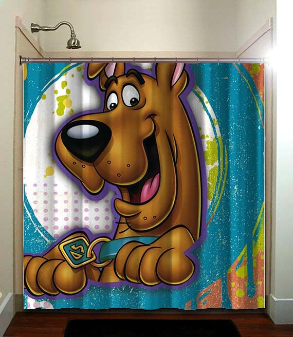 Kids Scooby Doo Shower Curtain Bathroom Home Decor Fatboy Studio Printed Waterproof Polyester Fabric