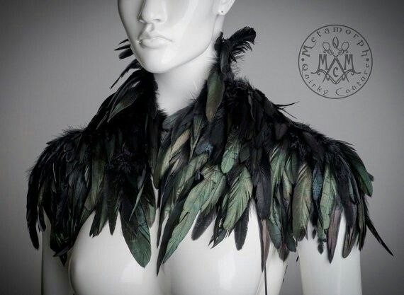 Falcon feather collar for a Valkyrie Daughter of Loki.