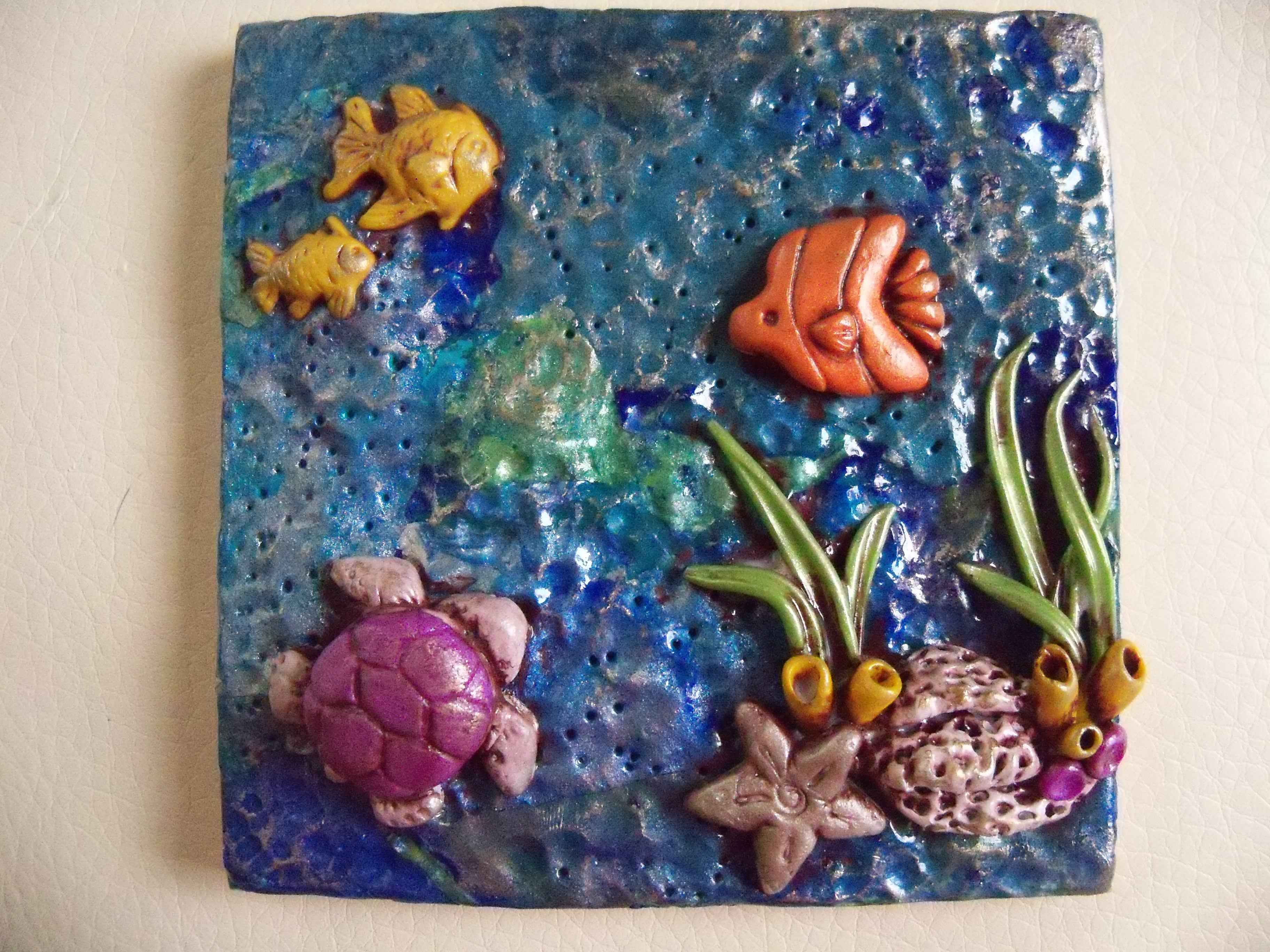 4x4 square polymer clay tile ocean collection white ceramic tile 4x4 square polymer clay tile ocean collection white ceramic tile underlay created dailygadgetfo Image collections