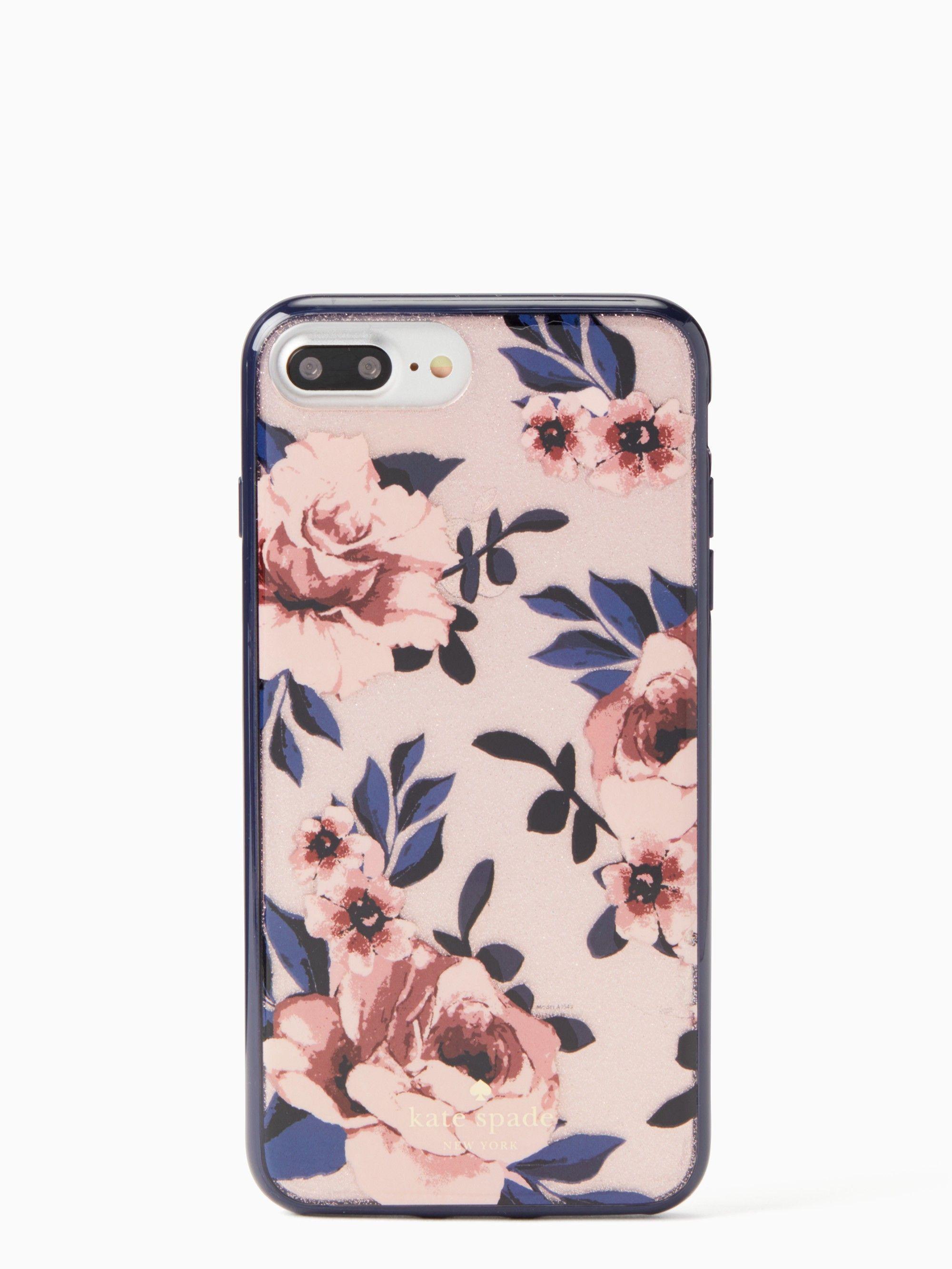 Kate Spade Glitter Prairie Rose Iphone 7 & 8 Plus Case