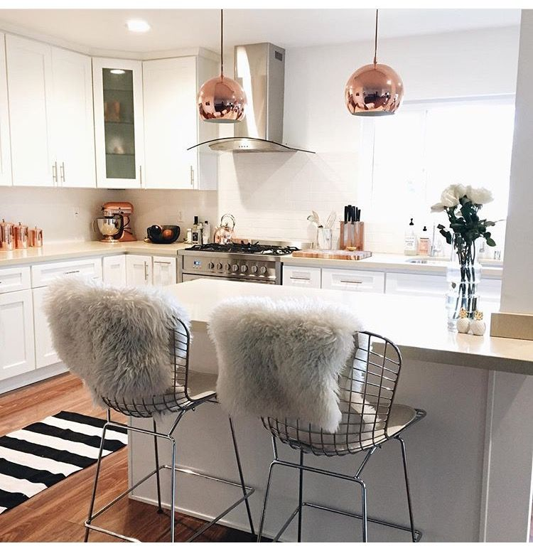 City Apartment Rose Gold Kitchen S