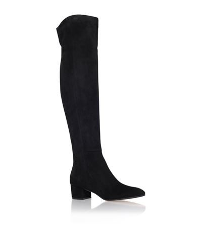 afdc7c1aa60 Gianvito Rossi Caldini Over-The-Knee Suede Boot available to buy at Harrods.