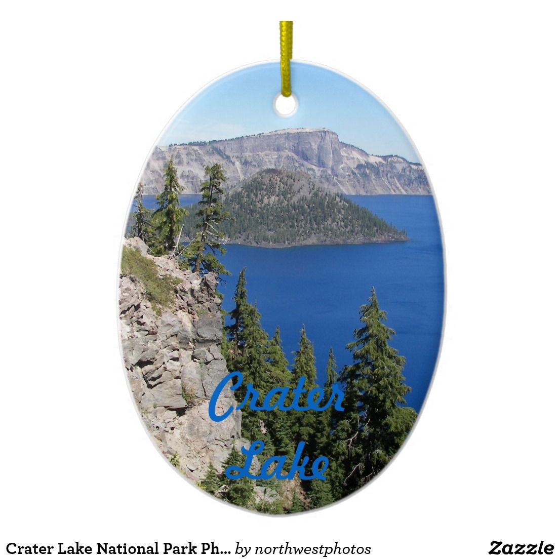 Crater Lake National Park Photo Ceramic Ornament | Zazzle.com #craterlakenationalpark