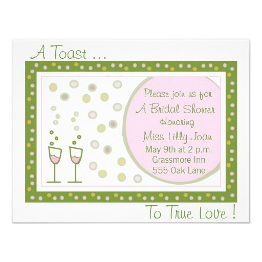 toast, A Toast ..., To True Love ! Personalized Invitation