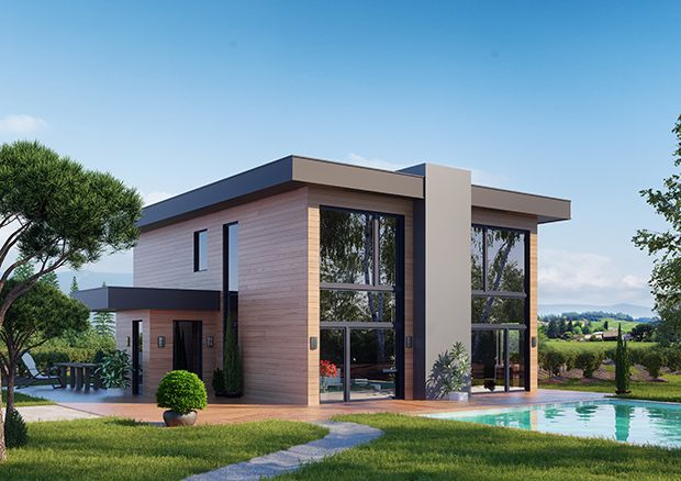 Maison bois revekko mod le be loft de la collection for Modele maison loft