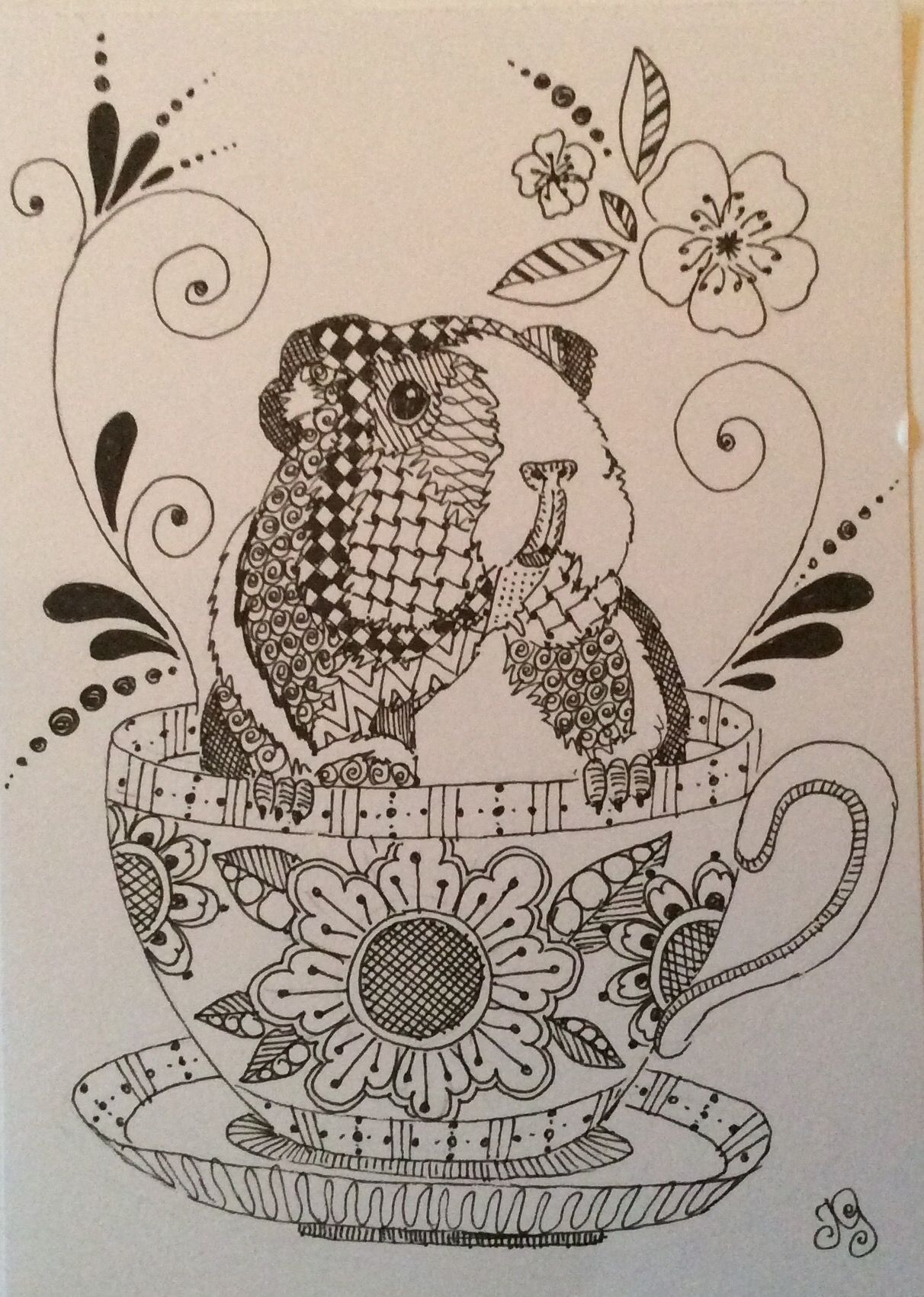 Guinea Pig Coloring Page That Would Be Framed If I Had It