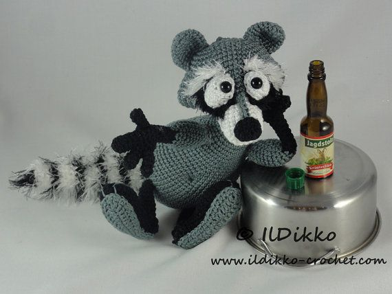 Amigurumi Crochet Pattern - Rupert the Raccoon | Pinterest | Der ...