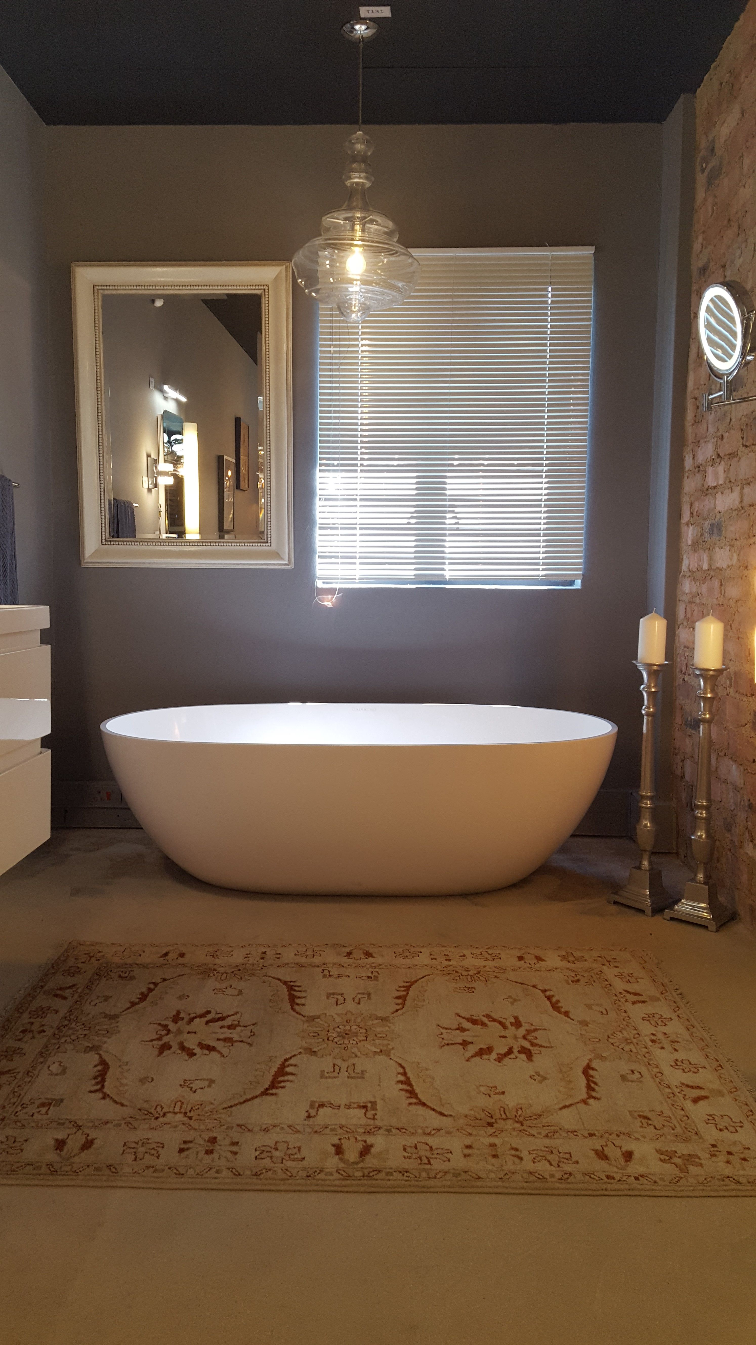 Our Beautiful Bathroom Setting With Gl Pendant Lighting