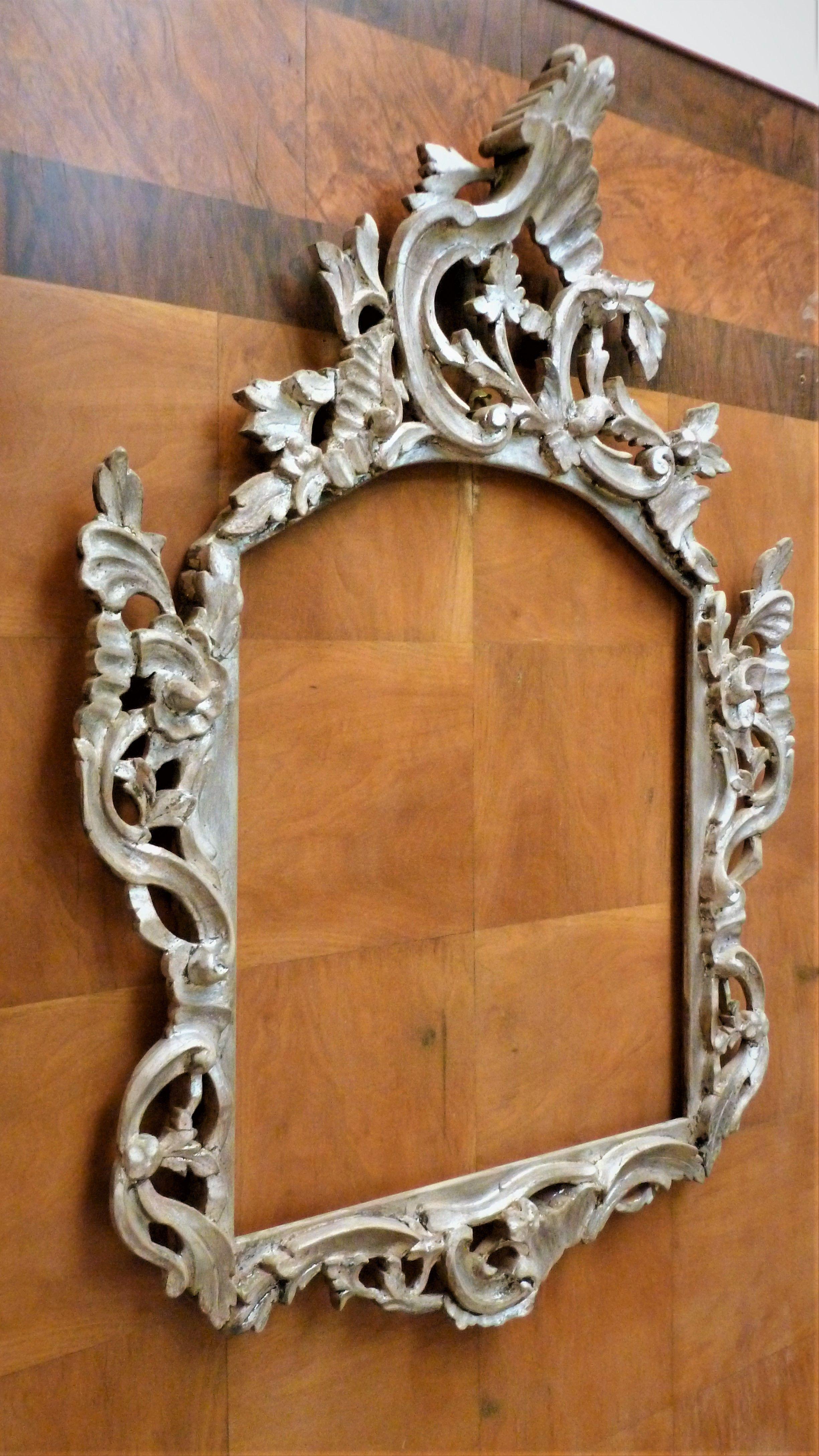 Unica ed originalissima cornice in legno stile rococò