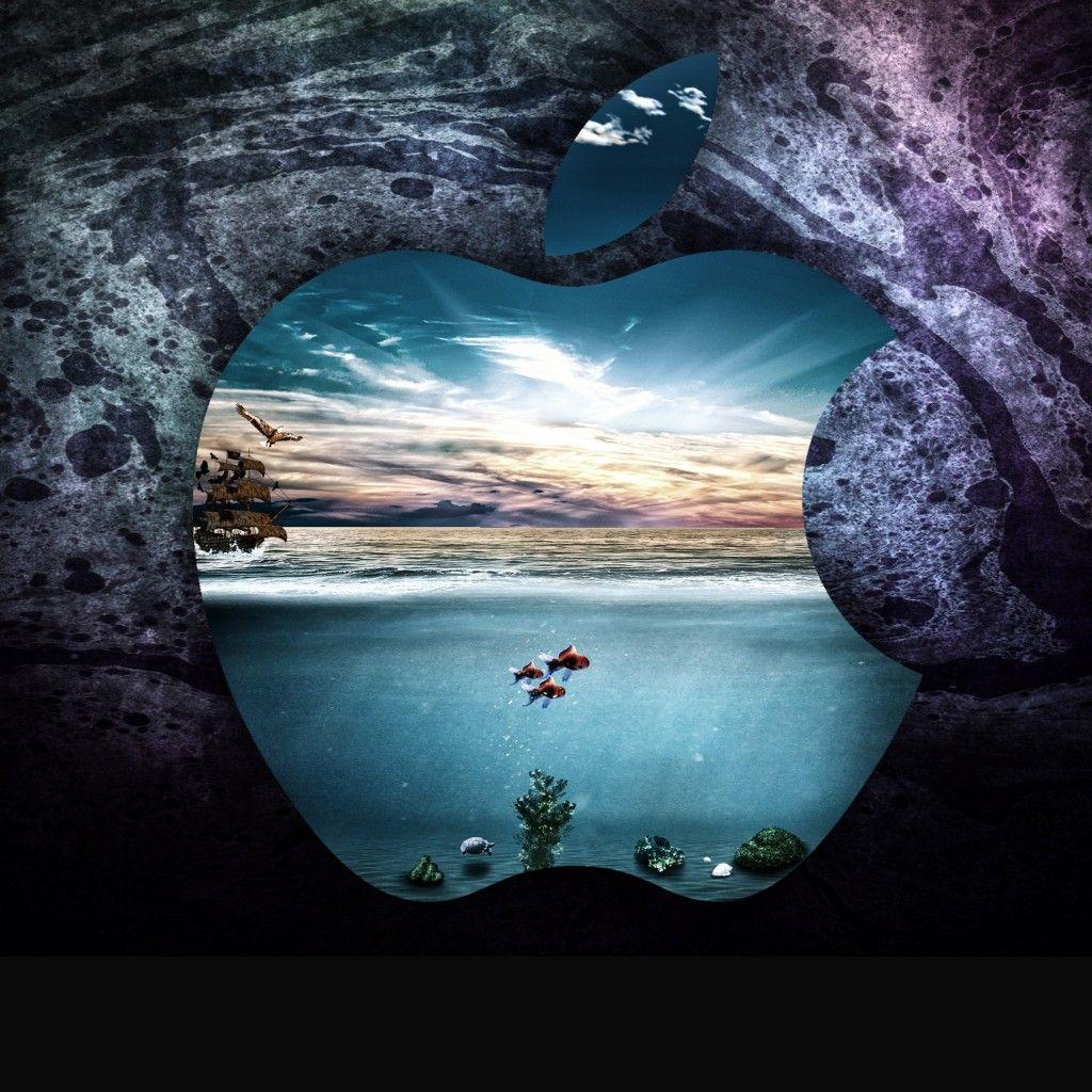 Apple Under Water iPad Wallpaper HD Macbook air
