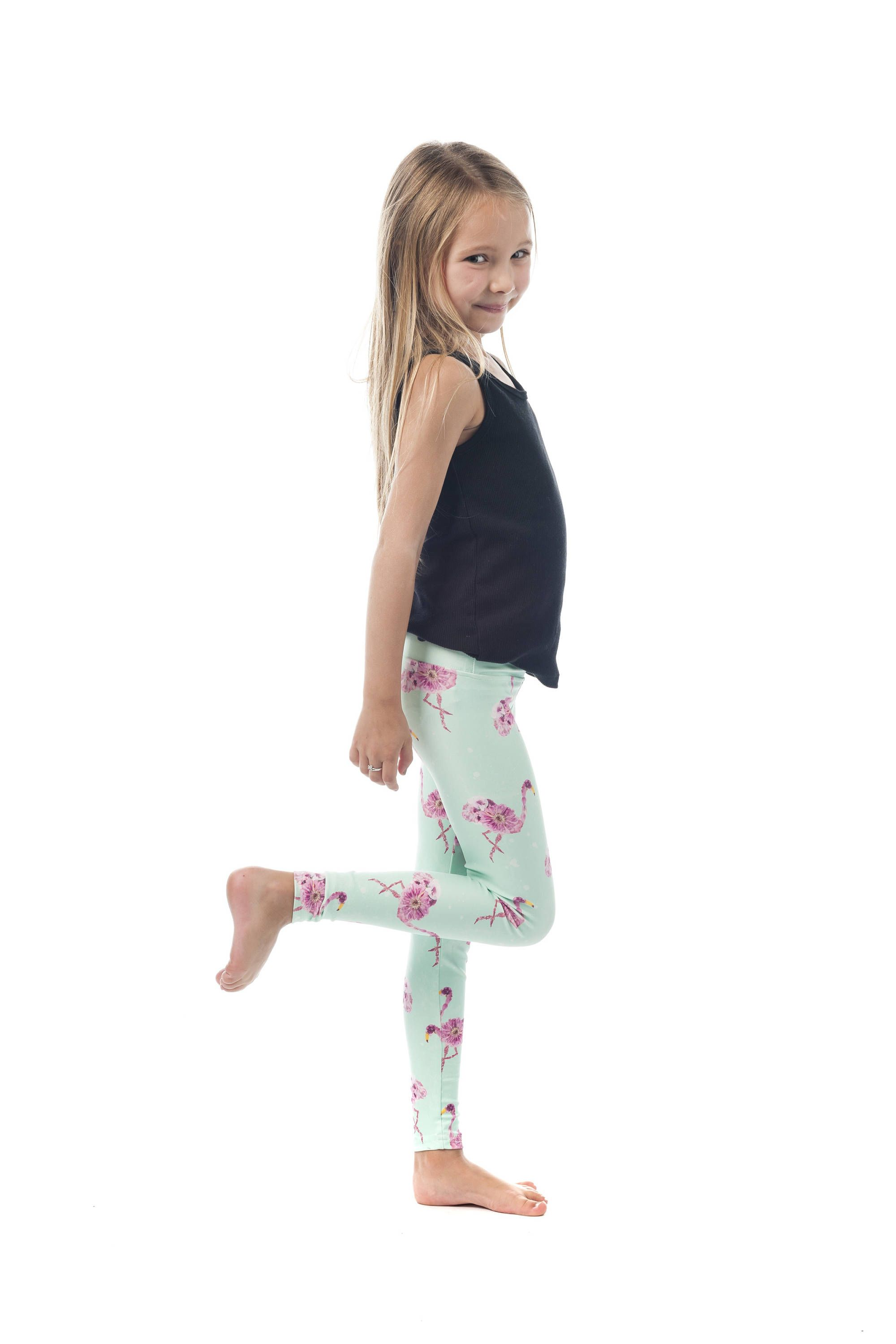 a56b7b138f086 Gypsy Flamingo Kids Leggings, Floral High waisted Baby Girl Tights, Gypsy  Skulls Printed Legging by shophotdame on Etsy