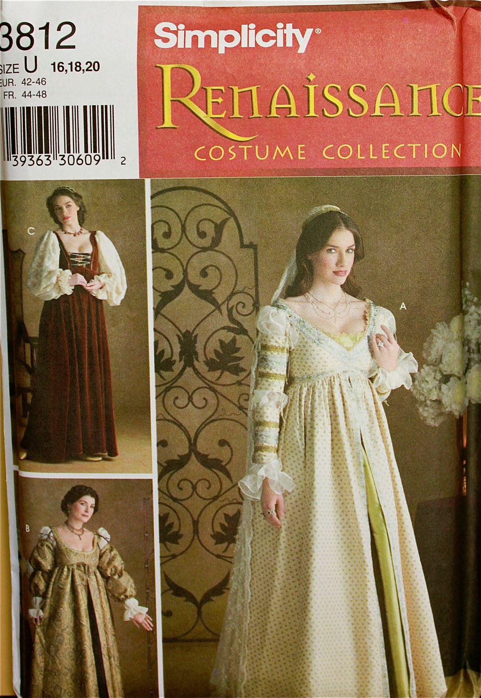 Kittel Ärmel Cap & Schleier Renaissance Kostüm von patterntreasury ...