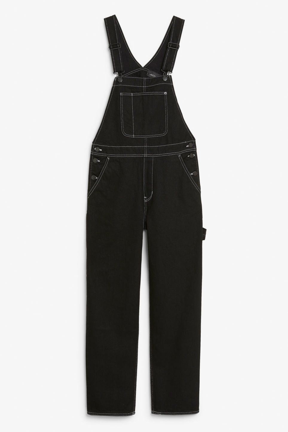 2d779c3ab5 Monki denim dungarees in black - A pair of black dungarees featuring a fab  utility look