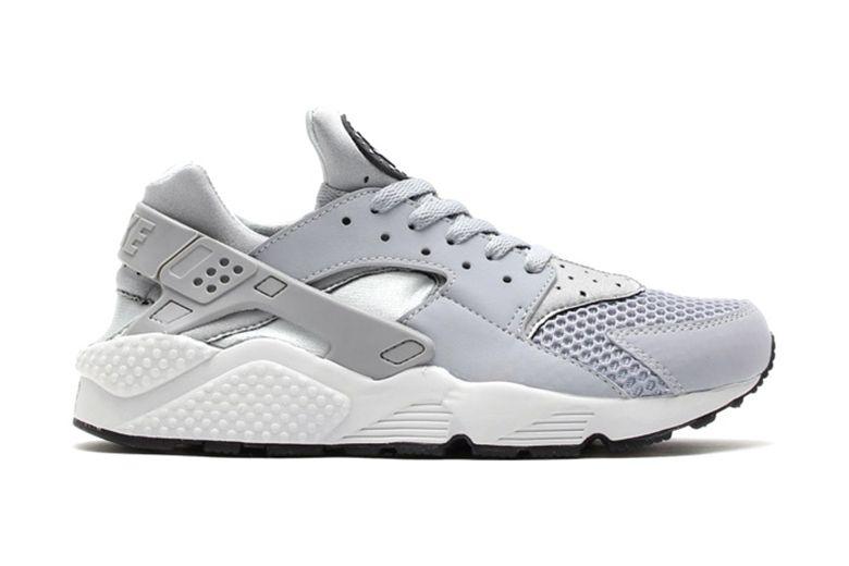 Nike Air Huarache Wolf Grey/Pure Platinum-Black-White | Nike air ...