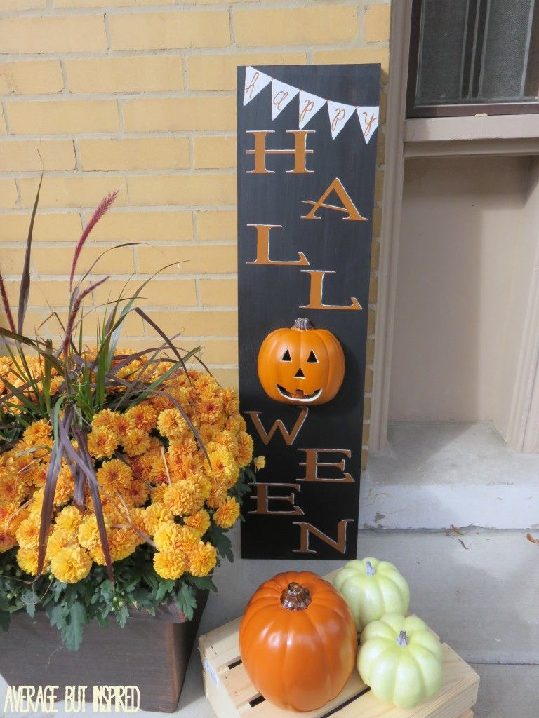 Pick Your Pumpkin Challenge - Light Up Halloween Wood Sign - halloween decorations diy